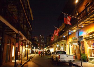 Royal street by night